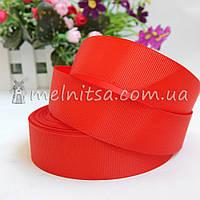Лента репсовая красная, 2,5 см