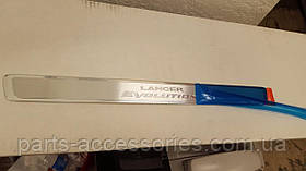 Накладки на дверные пороги Mitsubishi Lancer Evolution 2008-15 новые оригинал