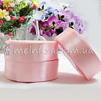 Атласная лента 2,5 см, №4 светло-розовая