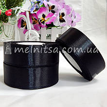 Атласная лента 2,5 см, №39 черная