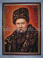 Портрет Т. Шевченко 20х30 см из янтаря