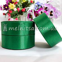 Атласная лента 2,5 см, №127 темно-зеленая