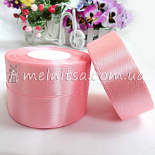 Атласная лента 2,5 см, №147 нежно-розовая