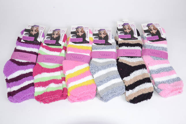"Женские носки махровые ""Травка"" р.36-42 (BL03/4) | 12 пар, фото 2"