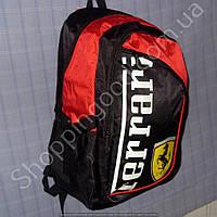 Рюкзак Ferrari 114223 черный с красным спортивный школьный размер 27 см х 38 см х 22 см объем 20 л