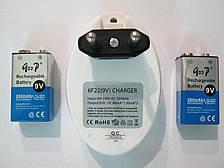 Зарядное устройство Goop 840 + 2 кроны 280 mah