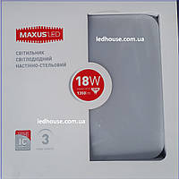 Светильник MAXUS LED настенно-потолочный 18W мягкий свет (1-LCL-003-04-S)