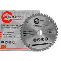 Диск по дереву INTERTOOL CT-3020 200*25