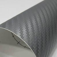 Серая карбоновая плёнка 3D 127 х 30 см