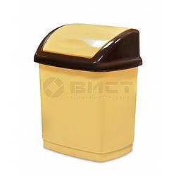 Відро для сміття з поворотною кришкою, 5 л 66-081 | ведро мусора поворотной крышкой