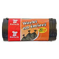 Пакети для сміття HDPE 35л 50шт KUCHCIK 67-00-2712  // Пакеты для мусора