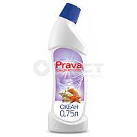 Рідина для миття туалетів Prava (лимон), 0,75 л 96-230  // Жидкость для чистки туалетов