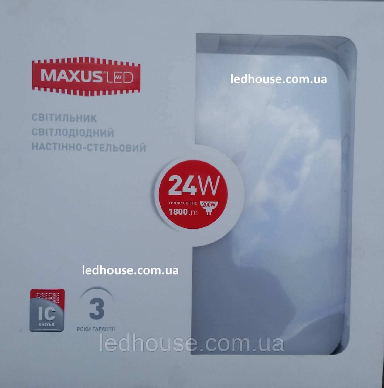 Светильник MAXUS LED настенно-потолочный 24W