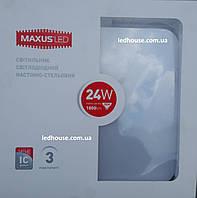 Светильник MAXUS LED настенно-потолочный 24W мягкий свет (1-LCL-005-04-S)