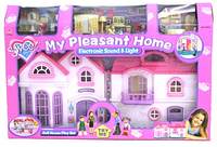 Игрушечный домик для кукол 16428 большой двойной КК