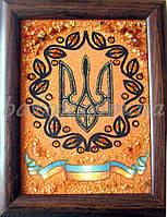 Герб Украины 20х30 см из янтаря