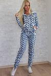 Женский спортивный костюм, турецкая двунитка (звезда), р-р 42; 44; 46, фото 3