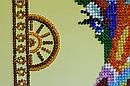 Набор для вышивки бисером на холсте «Радужный жираф», фото 4