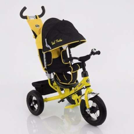 Дитячий триколісний велосипед Best Trike (надувні колеса) 5555 жовтий