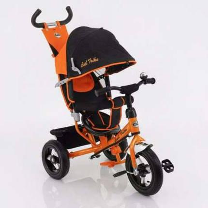 Детский трехколесный велосипед Best Trike (надувные колеса) 5555 оранжевый, фото 2