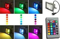 RGB  LED FLOOD прожектор  slim  10w  900lm  IP65.