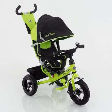 Дитячий триколісний велосипед Best Trike (надувні колеса) 5555 зелений