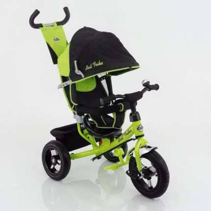 Дитячий триколісний велосипед Best Trike (надувні колеса) 5555 зелений, фото 2
