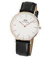 Ультратонкие классические часы Daniel Wellington black, фото 1