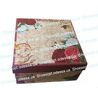 Подарочные коробки Розы Прованс набор 3шт 18,5х18,5х9,5 см