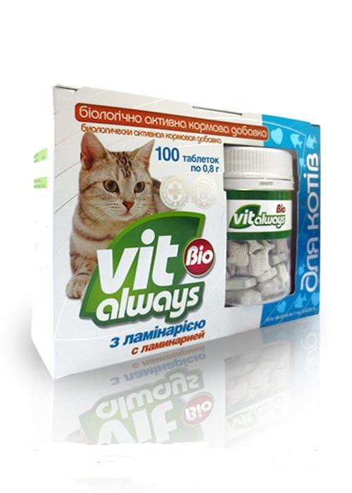 Виталвейс-био  кот табл №100 банка з ламін  рибки