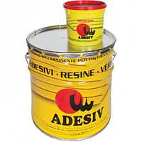 Клей полиуретан 2К для паркетной доски Adesiv (Италия) 10кг, фото 1