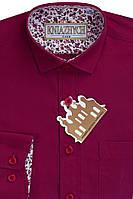 Рубашка классическая бордовая KNIAZHYCH