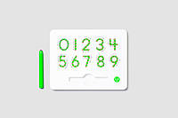 Магнитная доска для изучения цифр от 0 до 9, (цвет зеленый), Kid О