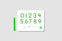 Магнитная доска для изучения цифр от 0 до 9, (цвет зеленый), Kid О, фото 1