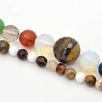 Натуральный камень круглый бусина