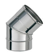 Колено 45° из нержавеющей стали (Aisi 201) 0,8 мм Ø120