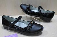 Подростковые черные туфли на девочку , детская школьная обувь тм Том.м р.34,35,36