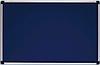 Доска для объявлений текстильная в алюминиевой раме S-line Синяя 65х100см