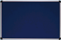 Доска для объявлений текстильная в алюминиевой раме S-line Синяя 90х120см, фото 1