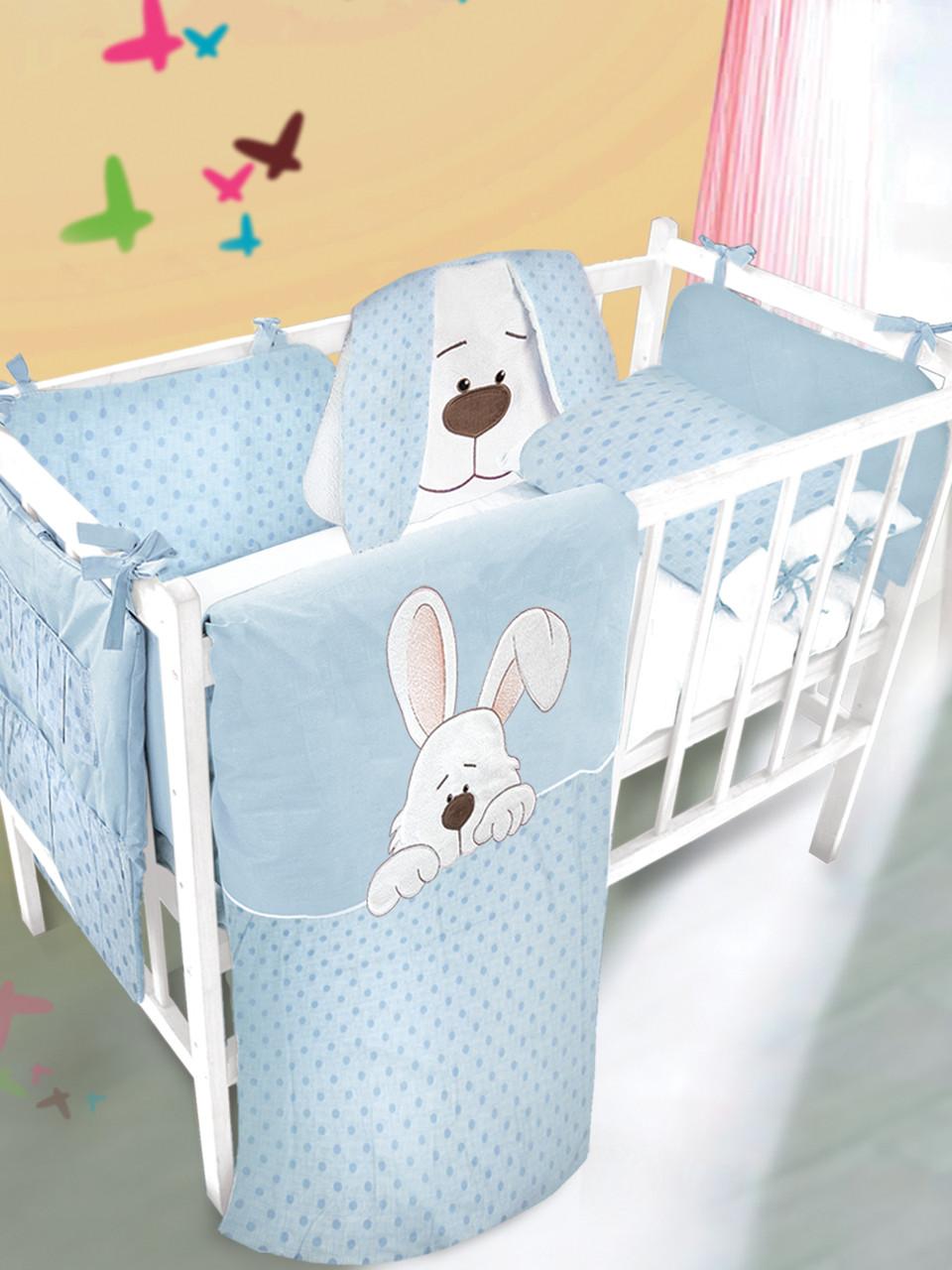 Детский набор с аппликацией ТМ Ярослав в кроватку