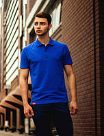 Мужская синяя футболка поло Punch - Horizon