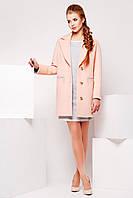 Пальто женское PL-8627 Персик-серый