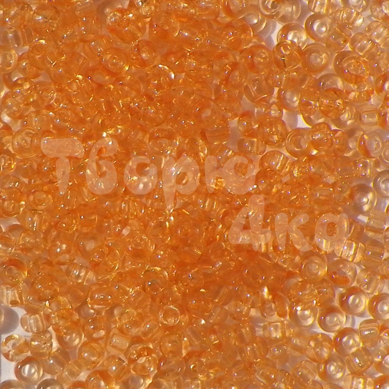 Бисер Preciosa 10/0 кристалический № 01184 / 818 оранжевый