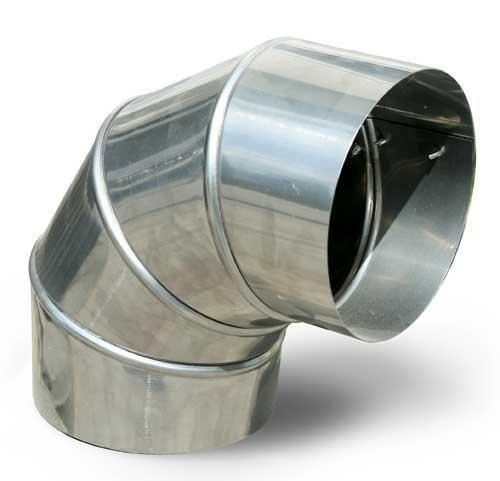 Колено 90° из нержавеющей стали (Aisi 201) 0,8 мм Ø160  - Термо Трейд в Киеве