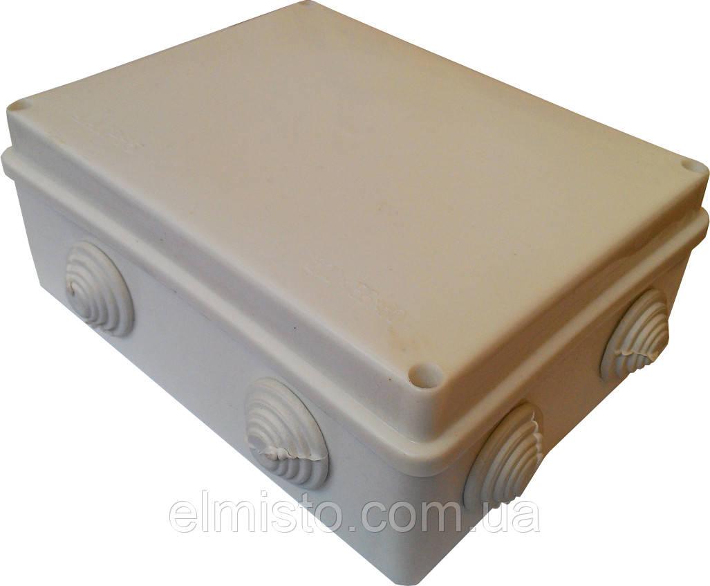 Коробки монтажні для зовнішньої (відкритої) встановлення 200х155х70мм IP54 з 8-ма гермовводами 12шт/уп