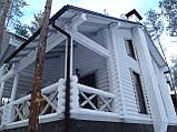 Покраска деревянного дома, сруба, фото 4