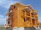 Покраска деревянного дома, сруба, фото 5