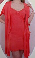 Женский халат с ночной сорочкой №90800-1