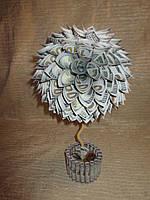 Топиарий из сувенирных долларов