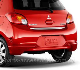 Хромовая накладка на крышку багажника Mitsubishi Mirage 2014-15 новая оригинальная
